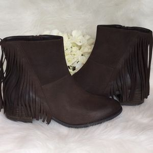 Steven by Steve Madden Cassidy Fringe Booties NWT